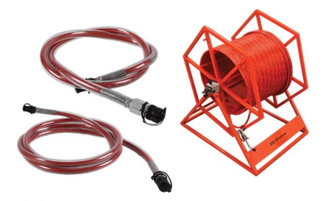 شیلنگ ، کوئیک کوپلینگ و قرقره شیلنگ فشارقوی 1500 بار با ایمنی بالا مدل XHC/XHR/STFC/STMC/STN1P - Range ساخت هایفورس انگلستان