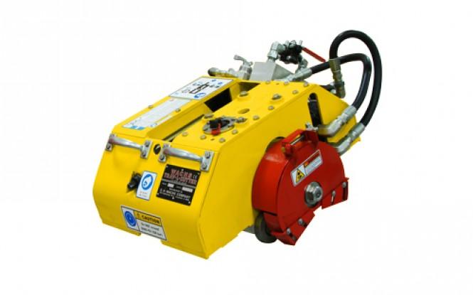 برش ، پخ زنی و تراش کاری زنجیری لوله با درایو هیدرولیکی مدل Trav-L-Cutter Model HE Hydraulic Kit ساخت وش آمریکا