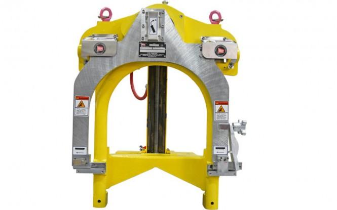 لوله بر دروازه ای پرتابل گیوتین با درایو پنوماتیکی ، هیدرولیکی و الکتریکی با امکان کار بصورت افقی و عمودی مدل Guillotine Super C Pipe Saw ساخت وش آمریکا