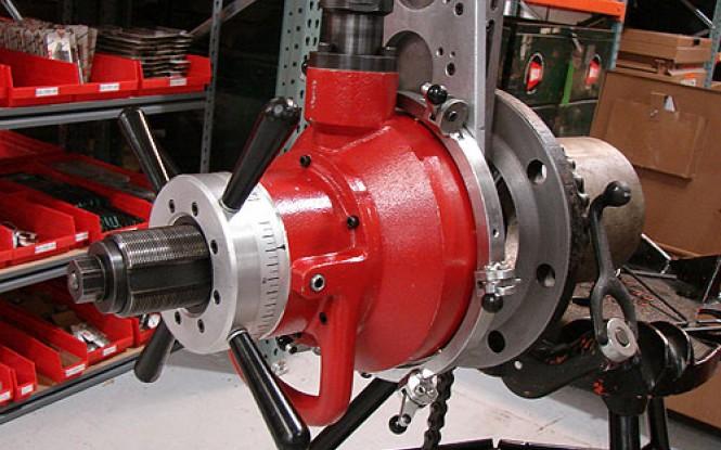 فلنج فیسر با موتور الکتریکی ، پنوماتیکی (بادی) یا هیدرولیکی جهت فیسینگ و تراش فلنج مدل FF-424 ساخت وش آمریکا