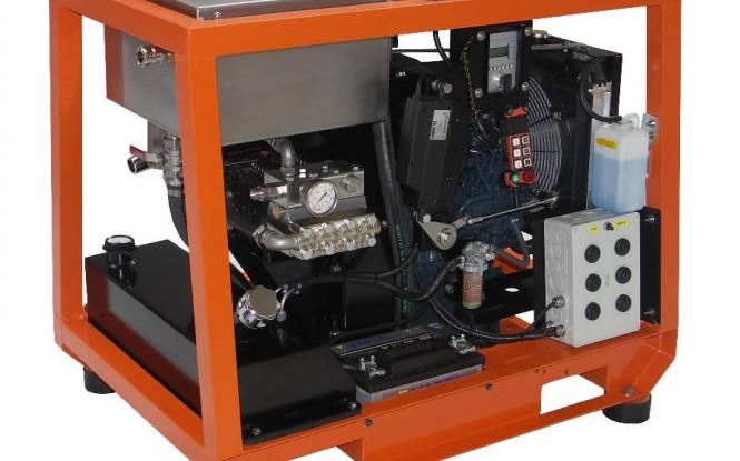 واترجت دیزلی 500 بار فشارقوی جهت شستشو و رسوب زدایی صنعتی مدل CD-25 ساخت دن جت دانمارک
