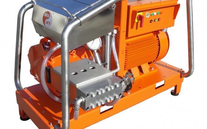 واترجت الکتریکی برقی 2500 بار جهت رسوب زدایی و شستشوی صنعتی مدل CE-150 ساخت دن جت دانمارک