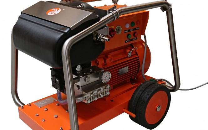 واترجت های الکتریکی (برقی) 500 بار فشارقوی جهت شستشونظافت صنعتی با آب مدل CE-20 ساخت دن جت دانمارک