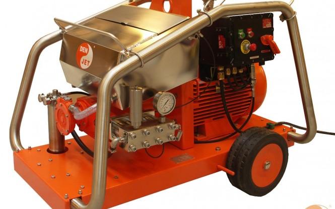 واترجت های الکتریکی (برقی) ضد انفجار ATEX 2000 بار فشارقوی جهت شستشونظافت صنعتی با آب مدل CEX-40 ساخت دن جت دانمارک