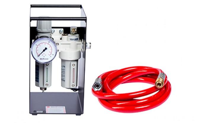 واحد مراقبت پنوماتیکی دارای گیج نشان دهنده فشار مدل FRL-Range ساخت هایفورس انگلستان