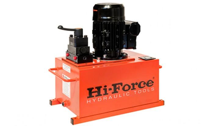 پمپ برقی (الکتریکی) هیدرولیکی تک فاز و سه فاز 700 بار دو سرعته مدل HEP2-Range ساخت هایفورس انگلستان