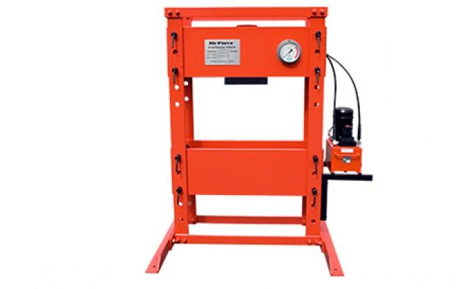 پرس هیدرولیکی کارگاهی 700 بار فشار قوی با ظرفیت 200 تن و کورس 330 میلیمتر مدل HPF-Range ساخت هایفورس انگلستان