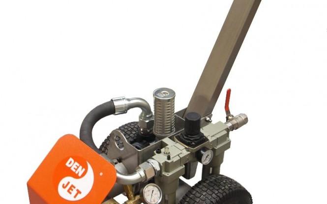 واترجت پنوماتیکی (بادی) 250 بار فشارقوی جهت شستشو و رسوب زدایی صنعتی مدل CA-12 ساخت دن جت دانمارک