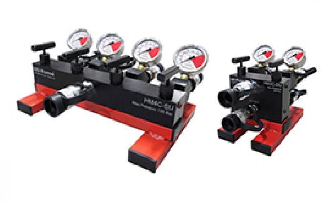 منیفولد تک و دو سرعته فشار قوی 700 بار 2 و 4 پورته دارای شیر تنظیم فشار مدل HMC-Range ساخت هایفورس انگلستان